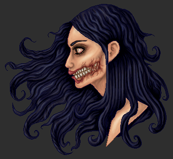 The Kuchisake onna by killingarkady.png