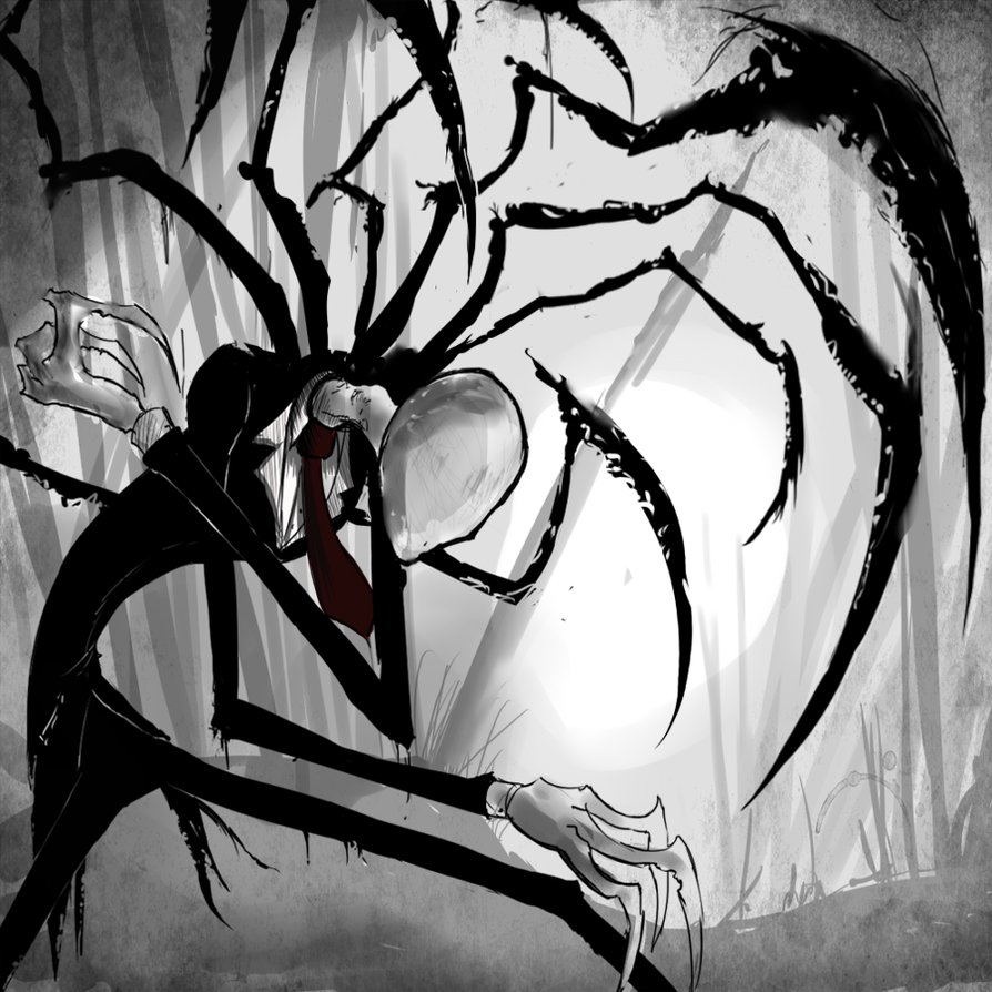 Slender man by corpse boy.jpg