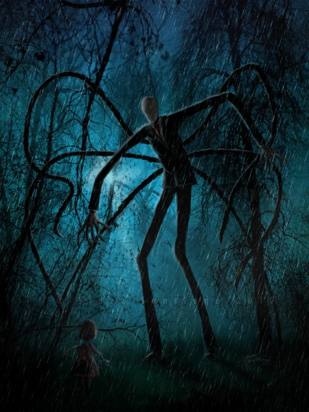 Файл:Slender man and the lost soul by quest007.jpg