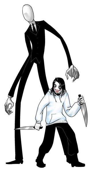 Файл:Slenderman & Jeff the killer.png